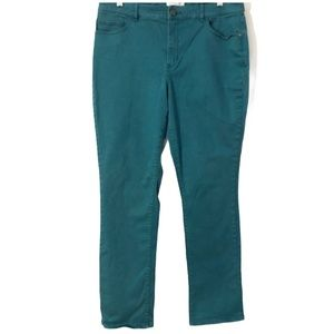 Coldwater Creek Natural Fit Green/Blue Jeans
